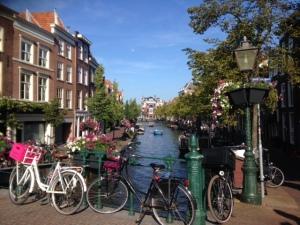 Leiden on a sunny morning
